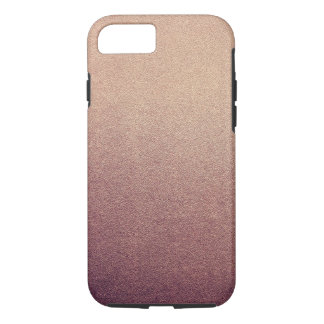 Rose Gold Glitter Sand Visual Texture Ombre Light iPhone 7 Case