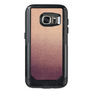 Rose Gold Glitter Sand Visual Texture Ombre Light OtterBox Samsung Galaxy S7 Case