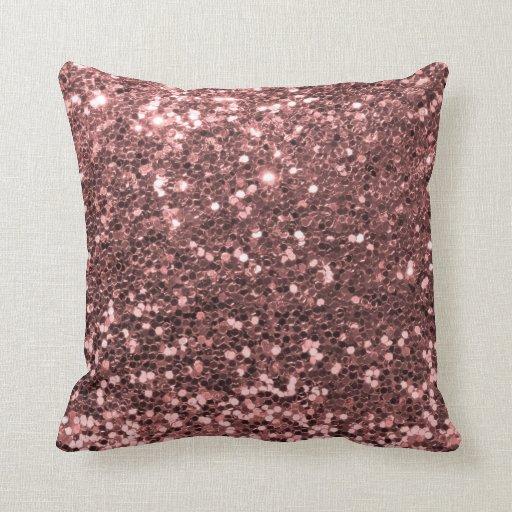Gold Sparkle Throw Pillow : Rose Gold Glitter Throw Pillow Zazzle