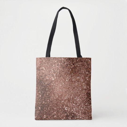 7231c50b0 Rose Gold Glitter Tote Bag | Zazzle.com