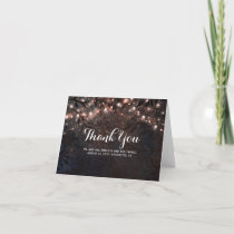 Rose Gold Glitter Tree Branches Thank You