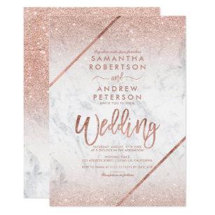 Rose Gold Wedding Invitations | Zazzle