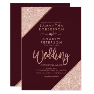 Red Wedding Invitations Zazzle
