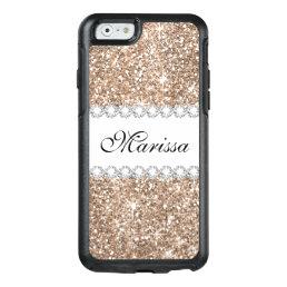 Rose Gold Glitter White OtterBox iPhone 6/6s Case