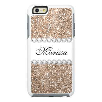 Rose Gold Glitter White OtterBox iPhone 6/6s Case