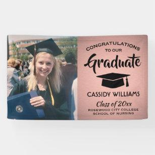 Emu Graduation 2020.Rose Gold Graduate Photo Class Of 2020 Graduation Banner