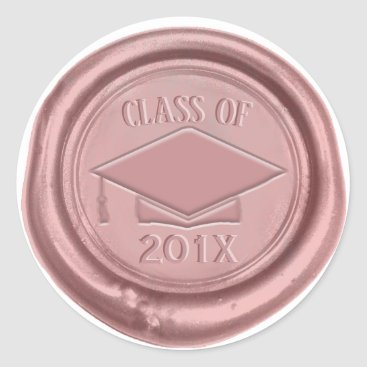 Rose Gold Graduation Cap Class of 2018 Wax Seal