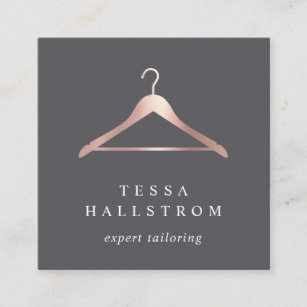 bf5bca94f6 Rose Gold Hanger | Seamstress Tailor Alterations Square Business Card