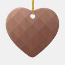 Rose gold heart romantic chic geometric ceramic ornament