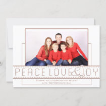Rose Gold Holiday | Modern Peace Love Joy Photo