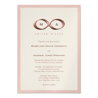 Rose Gold Infinity Hand Clasp Wedding Invitation