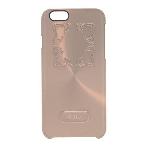 Rose Gold iPhone 6/6s Case Faux 3D Monogram Phone Case
