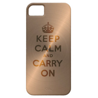 Rose Gold Keep Calm And Carry On iPhone SE/5/5s Case