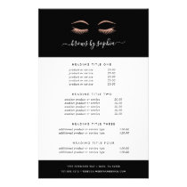Rose Gold Lashes & Brows | Pricing & Services Flyer
