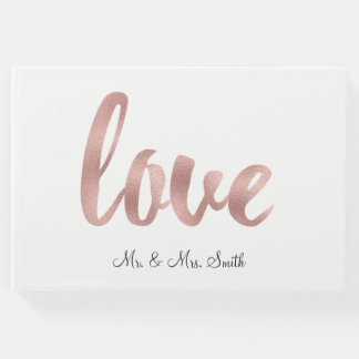 Rose gold love guestbook