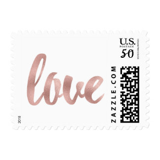 Rose gold love stamps- small postage