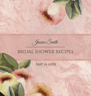 rose gold mable tulips bridal shower recipe 3 ring binder