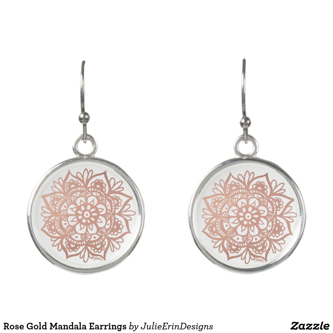 Rose Gold Mandala Earrings