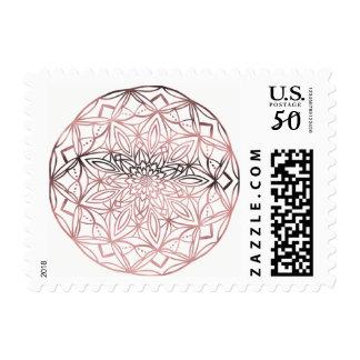 Rose Gold Mandala Postage