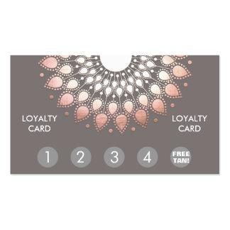Rose Gold Mandala Spray Tan Loyalty Punch Business Card