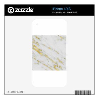 Rose Gold Marble Fashion iPhone 4 Skin