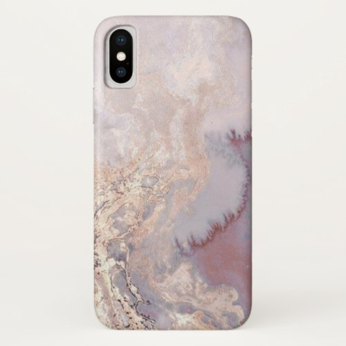 Rose Gold Marble Glitter design Phone Case