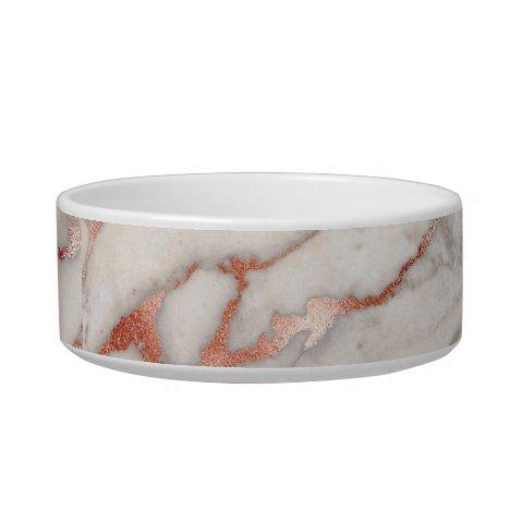 Rose Gold Marble Pet Bowl