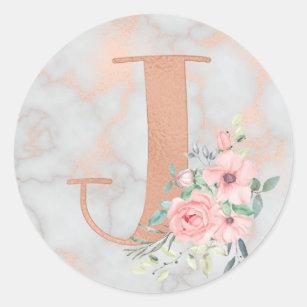 Rose Gold Letter J Wallpaper