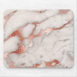Rose Gold Marble Texture Mouse Pad