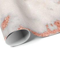 Rose Gold Marble Texture Wrapping Paper