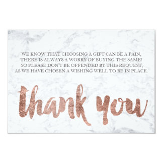 Rose gold marble thank you gift card 2