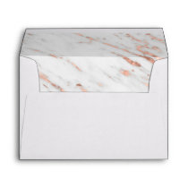Rose Gold Marble Wedding Invitation Envelope