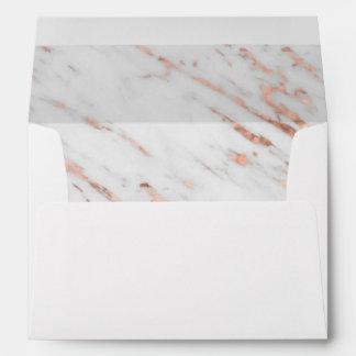 Rose Gold Marble Wedding Invitation Envelope