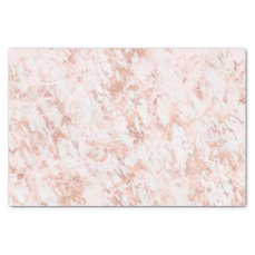 Rose Gold Marbled Elegant Modern Wedding Tissue Paper