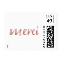 Rose gold merci stamps