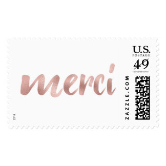Rose gold merci stamps- large postage