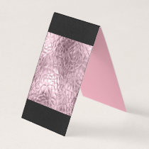 Rose gold,metallic,golden,shine,glam,chic,beautifu business card