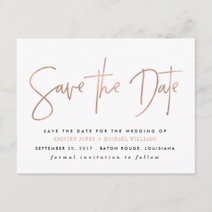 minimalist save the date cards zazzle