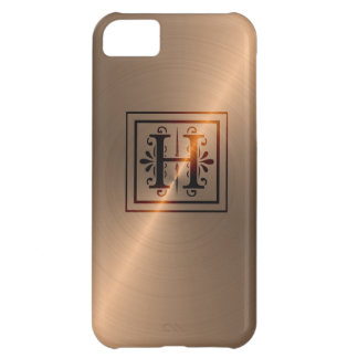 Rose Gold Monogram H iPhone 5C Cover