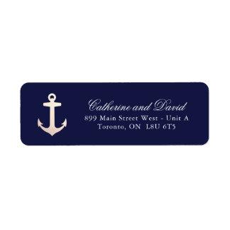 Rose Gold Nautical Anchor Return Address Labels