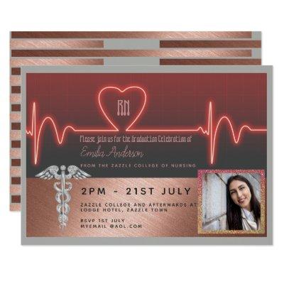 Male nurse graduation invitation photo silver bl zazzle filmwisefo
