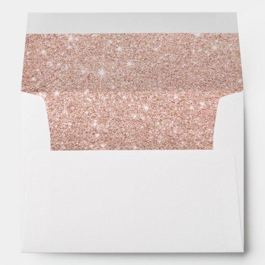 Black Gold Marble Blocks : Rose gold ombre black marble modern color block envelope