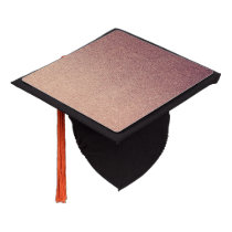 Rose Gold Ombre Glitter Sand Look Pink Graduation Cap Topper