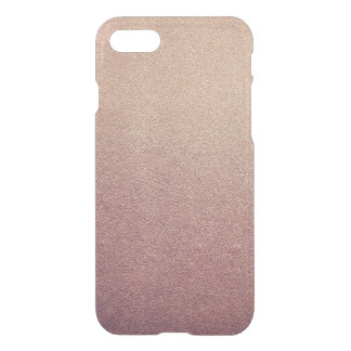 Rose Gold Ombre Glitter Sand Look Pink iPhone 7 Case
