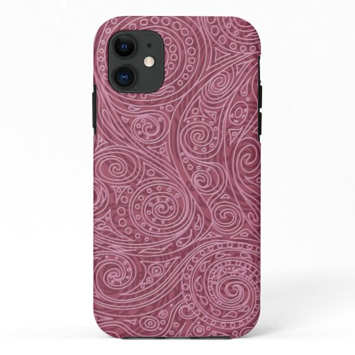 Rose Gold Openwork Spiral Pattern iPhone 11 Case