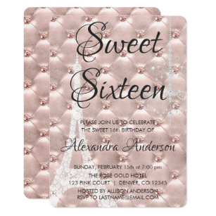 16th Birthday Invitations Announcements Zazzle