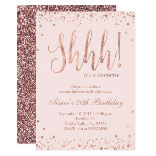 rose gold party invitation zazzle com
