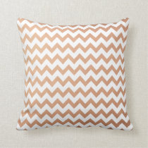 Rose Gold Pattern Modern Chevron Pattern Throw Pillow