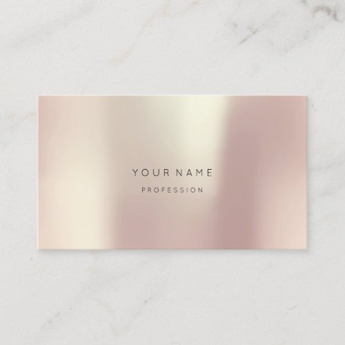 Rose Gold Pearly Abstract Minimal Silk Metallic Business Card
