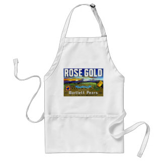 Rose Gold Pears Adult Apron